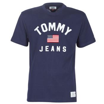 Oblačila Moški Majice s kratkimi rokavi Tommy Jeans TJM USA FLAG TEE Modra