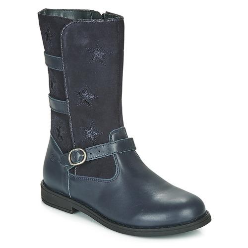 Čevlji  Deklice Mestni škornji    Citrouille et Compagnie HANDRE Modra
