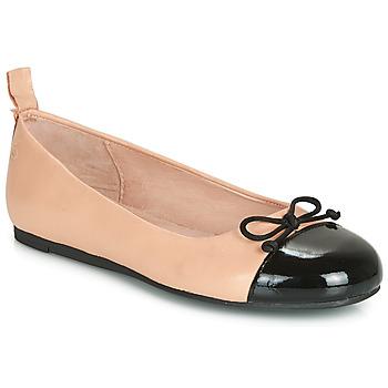 Čevlji  Deklice Balerinke Citrouille et Compagnie LIOGE Nude / Črna