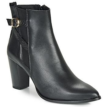 Čevlji  Ženske Gležnjarji So Size AURELIO Črna
