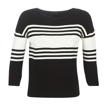 Oblačila Ženske Puloverji Guess VIOLANTE Črna / Bela