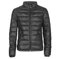 Oblačila Moški Usnjene jakne & Sintetične jakne Guess STRETCH PU QUILTED Črna