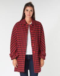 Oblačila Ženske Plašči Benetton SIDUDEL Kostanjeva / Večbarvna