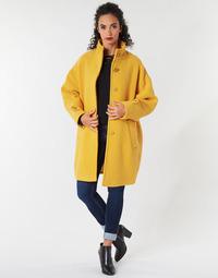 Oblačila Ženske Plašči Benetton STORI Rumena