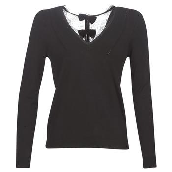 Oblačila Ženske Puloverji Naf Naf MITOU LONG NEW Črna