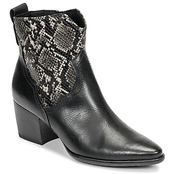 Čevlji  Ženske Gležnjarji Marco Tozzi  Črna