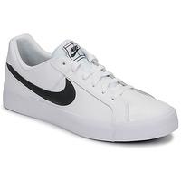 Čevlji  Moški Nizke superge Nike COURT ROYALE AC Bela / Črna