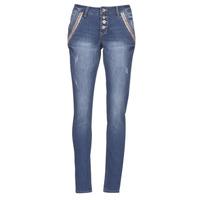 Oblačila Ženske Jeans straight Cream DICTE Modra