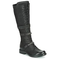 Čevlji  Ženske Mestni škornji    Mjus CAFE HIGH Črna