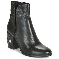 Čevlji  Ženske Gležnjarji Mjus TWISTER METAL Črna