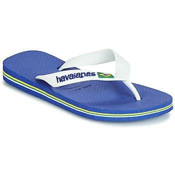 Čevlji  Otroci Japonke Havaianas BRASIL LOGO Modra