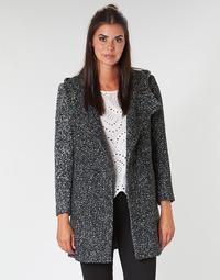 Oblačila Ženske Plašči Casual Attitude LOUA Siva / Črna