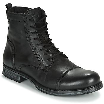 Čevlji  Moški Polškornji Jack & Jones JFW RUSSEL LEATHER Črna