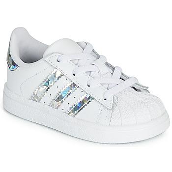 Čevlji  Deklice Nizke superge adidas Originals SUPERSTAR EL I Bela / Srebrna