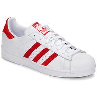 Čevlji  Nizke superge adidas Originals SUPERSTAR Bela / Rdeča