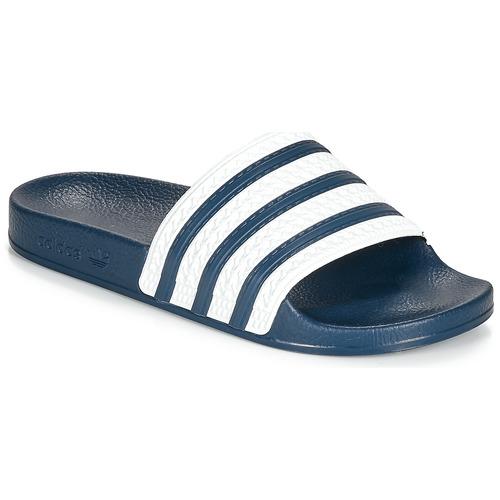 Čevlji  Natikači adidas Originals ADILETTE Modra / Bela