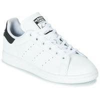 Čevlji  Otroci Nizke superge adidas Originals STAN SMITH J Bela / Črna
