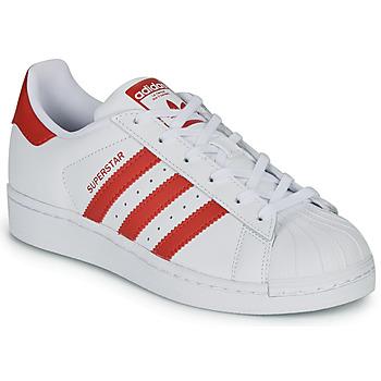Čevlji  Otroci Nizke superge adidas Originals SUPERSTAR J Bela / Rdeča