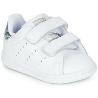 Čevlji  Deklice Nizke superge adidas Originals STAN SMITH CF I Bela / Srebrna