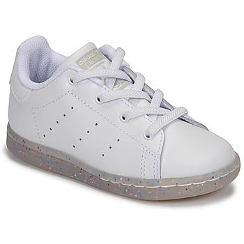 Čevlji  Deklice Nizke superge adidas Originals STAN SMITH EL I Bela / Bleščeča