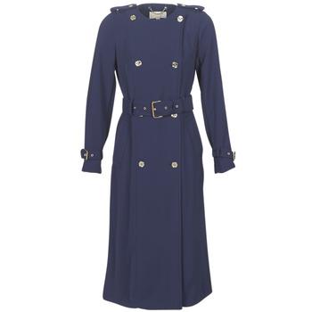 Oblačila Ženske Trenči MICHAEL Michael Kors COLLARLESS TRENCH Modra