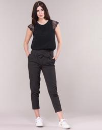 Oblačila Ženske Hlače s 5 žepi Betty London LAALIA Črna / Bela