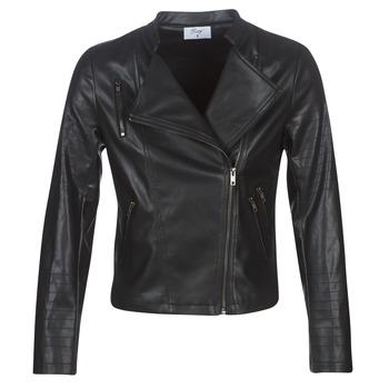 Oblačila Ženske Usnjene jakne & Sintetične jakne Moony Mood LAVINE Črna