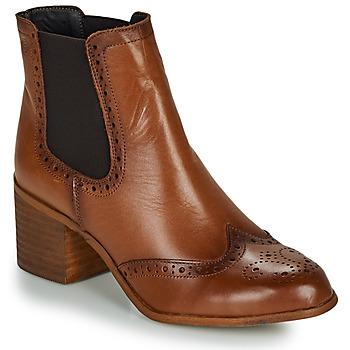 Čevlji  Ženske Gležnjarji Betty London LARISSA Cognac