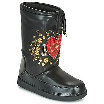 Čevlji  Ženske Škornji za sneg Love Moschino SKI BOOT Črna