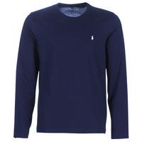 Oblačila Moški Majice z dolgimi rokavi Polo Ralph Lauren L/S CREW-CREW-SLEEP TOP Modra