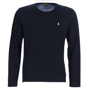 Oblačila Moški Majice z dolgimi rokavi Polo Ralph Lauren L/S CREW-CREW-SLEEP TOP Črna