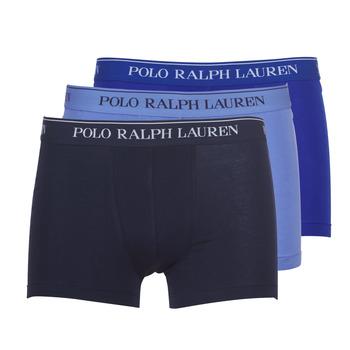 Spodnje perilo Moški Boksarice Polo Ralph Lauren CLASSIC-3 PACK-TRUNK Modra
