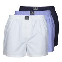 Spodnje perilo Moški Spodnje hlače Polo Ralph Lauren OPEN BOXER-3 PACK-BOXER Bela / Modra
