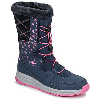 Čevlji  Ženske Škornji za sneg Kangaroos K-GLAZE RTX Rožnata