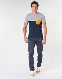 Oblačila Moški Hlače Chino / Carrot Le Temps des Cerises JAS3 Modra