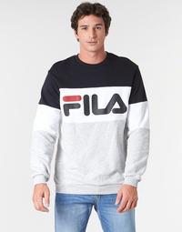 Oblačila Moški Puloverji Fila STRAIGHT BLOCKED CREW Siva / Črna