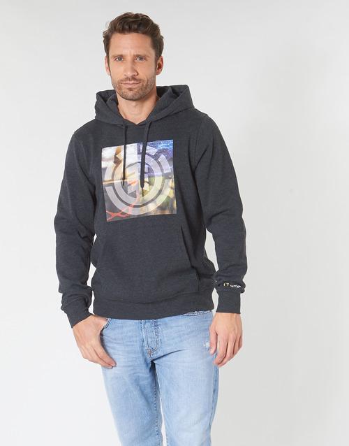 Oblačila Moški Puloverji Element QUADRANT SEASONS HOOD Siva