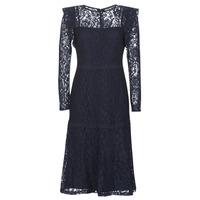 Oblačila Ženske Kratke obleke Lauren Ralph Lauren BLAIR Modra