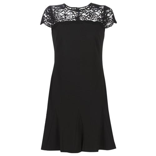 Oblačila Ženske Kratke obleke Lauren Ralph Lauren CALLY Črna