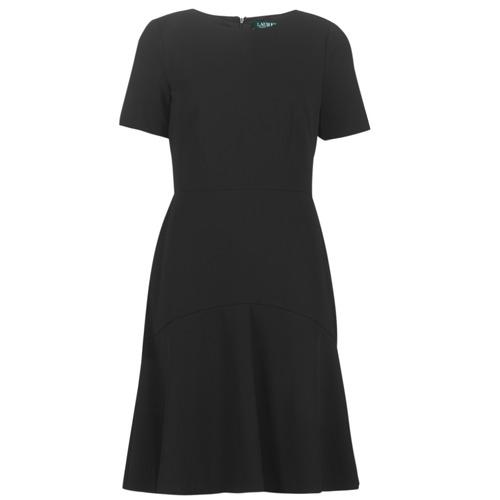 Oblačila Ženske Kratke obleke Lauren Ralph Lauren BABA Črna