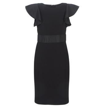 Oblačila Ženske Kratke obleke Lauren Ralph Lauren JERSEY SLEEVELESS COCKTAIL DRESS Črna
