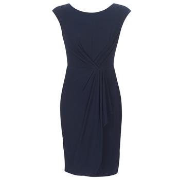 Oblačila Ženske Kratke obleke Lauren Ralph Lauren RUCHED CAP SLEEVE DRESS Modra