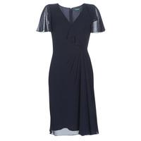 Oblačila Ženske Dolge obleke Lauren Ralph Lauren CUTLER CAP SLEEVE DAY DRESS Modra