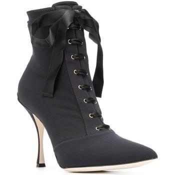 Čevlji  Ženske Gležnjarji D&G CT0471 AZ161 nero