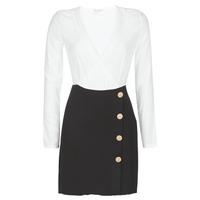Oblačila Ženske Kratke obleke Moony Mood LUCE Črna / Bela