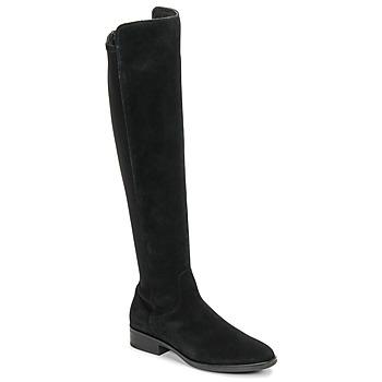 Čevlji  Ženske Visoki škornji Clarks PURE CADDY Črna