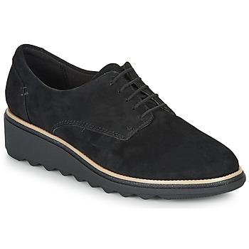 Čevlji  Ženske Čevlji Derby Clarks SHARON NOEL Črna