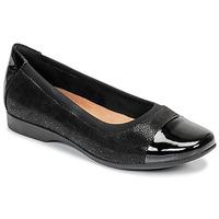 Čevlji  Ženske Balerinke Clarks UN DARCEY CAP Črna