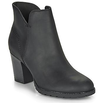 Čevlji  Ženske Gležnjarji Clarks VERONA TRISH Črna
