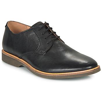 Čevlji  Moški Čevlji Derby Clarks ATTICUS LACE Črna